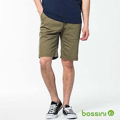 bossini男裝-素色卡其短褲02草綠