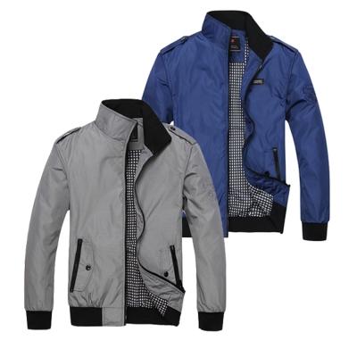 美國熊 英倫風格 騎士立領 內鋪薄棉 夾克風衣外套