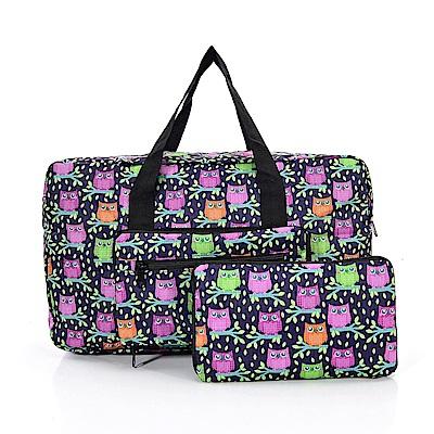 英國ECO CHIC折疊時尚旅行袋-貓頭鷹