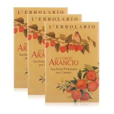 L-ERBOLARIO 蕾莉歐 橙香柑橘香氛芳香包(抽屜用)X3