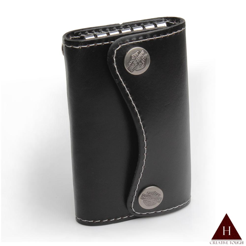 H-CT 純手工個性設計款真皮鑰匙包(ZD-X001黑-Z)