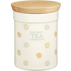 KitchenCraft 茶葉木蓋陶罐(復古點)