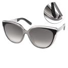 Jimmy Choo太陽眼鏡 廣告貓眼款/漸層透黑-白水銀#CINDYFS 1M0
