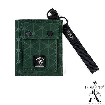 PORTER - 旅人視覺NIFTY時尚造型短夾 - 綠