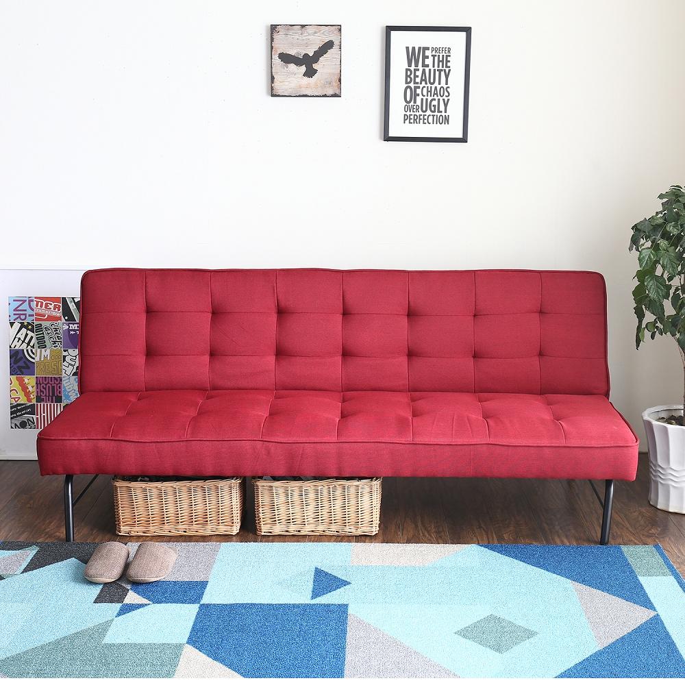 H&D 愛諾兒工業風舒適沙發床-多色選