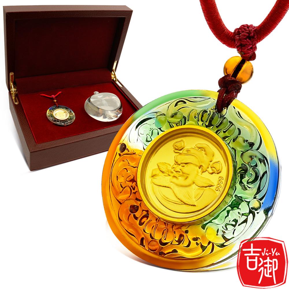 吉御 - 鍾馗 -手工琉璃黃金墜觀音保平安禮盒