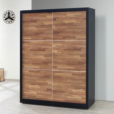 H&D 波妮積層木5尺推門衣櫥 (寬151.5X深60X高195cm)