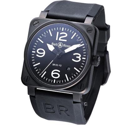 Bell & Ross BR0932 大三針機械腕錶-42mm