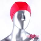天使霓裳 休閒戲水高彈力布面泳帽(紅F)