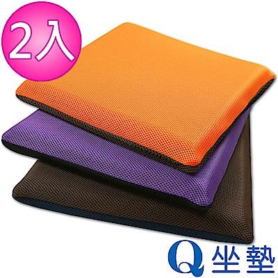 源之氣 竹炭模塑記憶Q坐墊/雙面雙色(三款可選 <b>2</b>入)