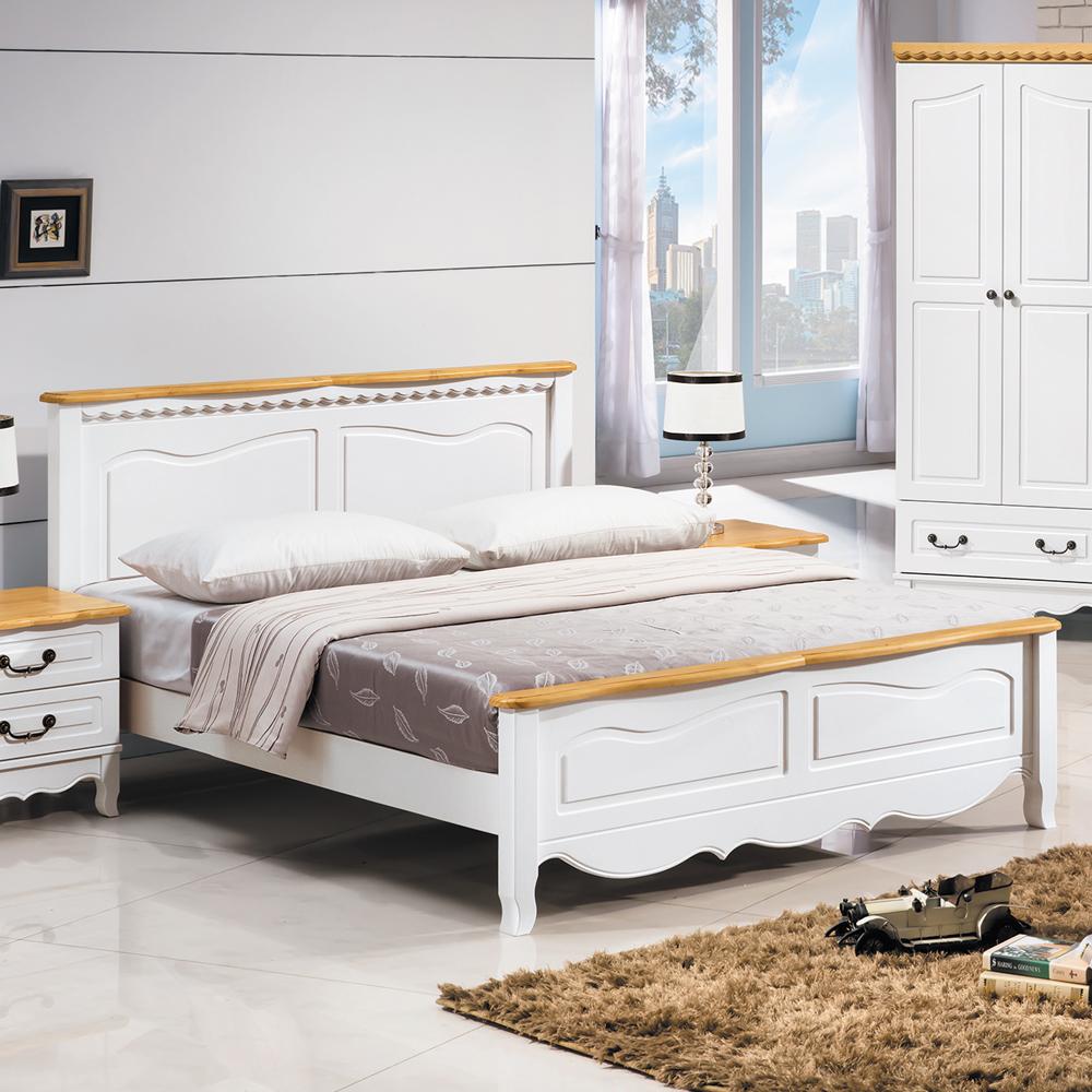 床架 雙人加6尺 大格拉 松木實木 兩色可選 愛比家具