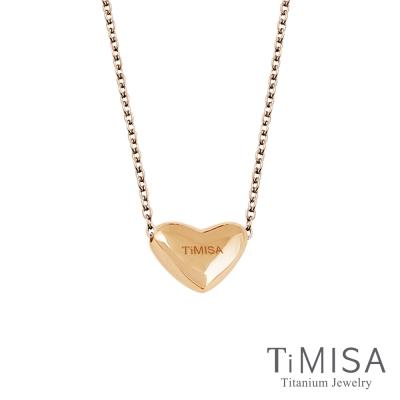 TiMISA 鈦真心-穿洞版(雙色) 純鈦(極細鎖骨)項鍊(B)