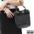 NATURALLY JOJO 尼龍個性水桶包(黑)