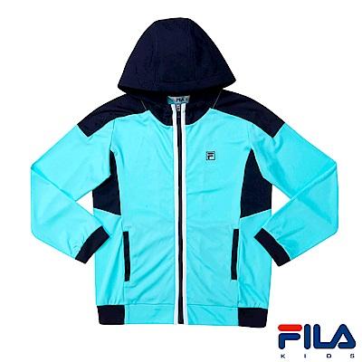 FILA KIDS 男童吸濕排汗針織外套-薄荷1JKS-4300-MT