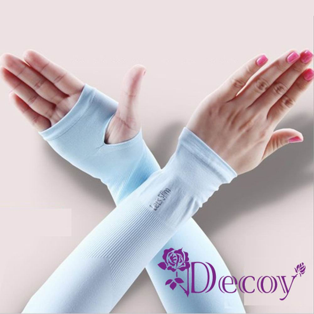 Decoy 夏日防曬 男女透氣涼感袖套 五色可選+隨機色