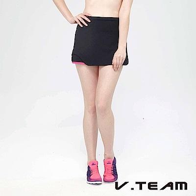 VTEAM 韻律短褲裙-黑