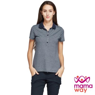 哺乳衣 POLO衫哺乳上衣(共二色) Mamaway