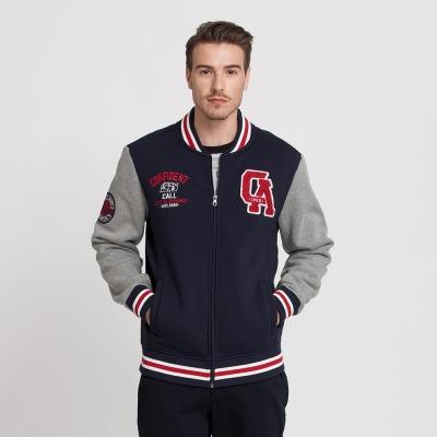 Hang Ten - 男裝 - 運動潮流棒球夾克 - 藍