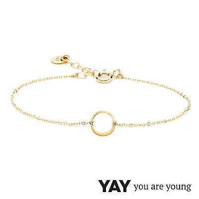 YAY You Are Young 法國品牌 Sultane 圓滿圈圈手鍊 金色