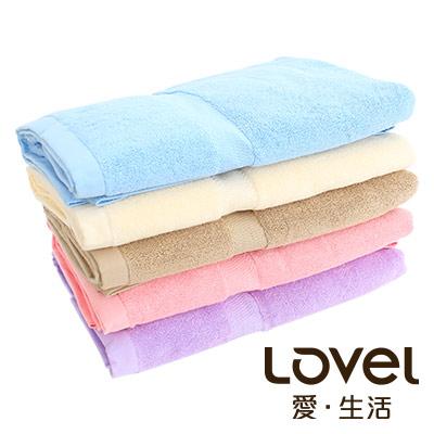 Lovel 嚴選六星級飯店素色純棉浴巾6件組(共5色)