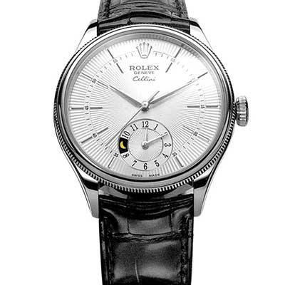 ROLEX 勞力士 徹里尼 Cellini 50529 GMT月相顯示腕錶-39mm
