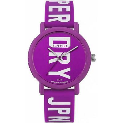 Superdry 極度乾燥 Campus 休閒潮流時尚手錶-紫/38mm