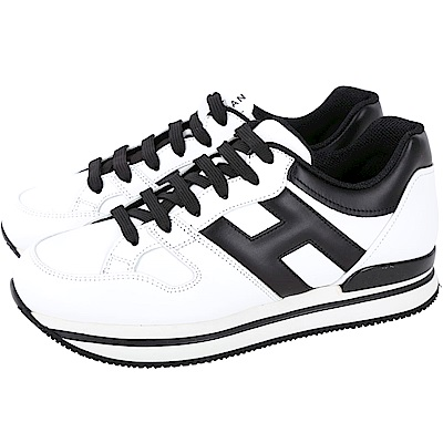 HOGAN H222 白色厚底繫帶休閒鞋