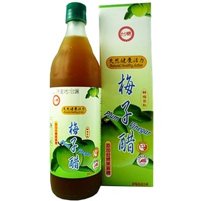 健康酸甜好滋味 台糖梅子醋6瓶/箱(添加果寡醣;600ml/瓶)