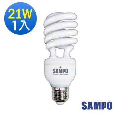 SAMPO聲寶21W 螺旋省電燈泡 -1入裝