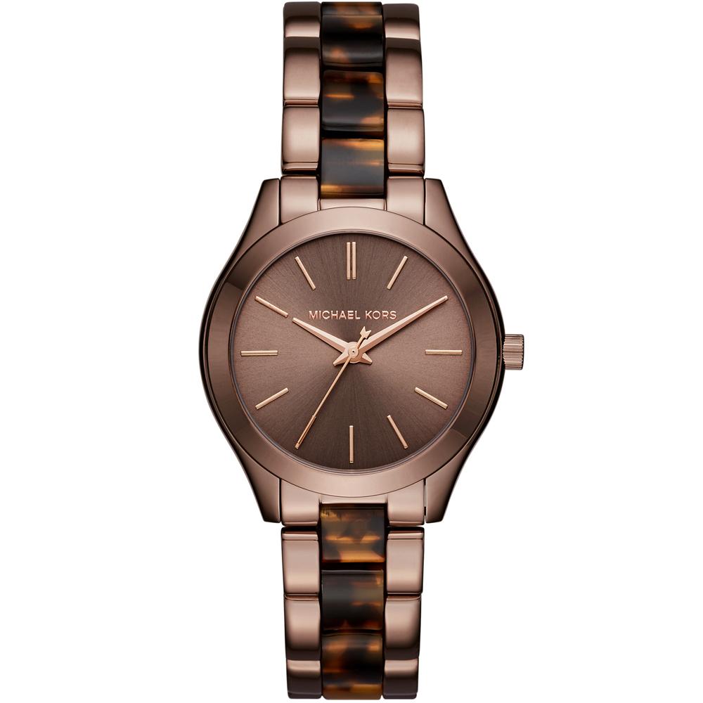 Michael Kors MK Hartman 咖啡經典時尚腕錶-古銅色/34mm