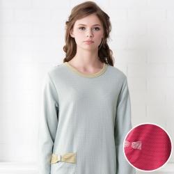 羅絲美睡衣 - 童話人生長袖洋裝睡衣(熱情紅)