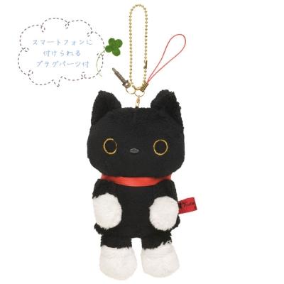 小襪貓音樂幸運草系列指偶公仔螢幕擦吊飾。小襪貓