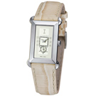 ICEBERG 舊愛新歡系列皮帶腕錶-白x米白色皮帶/34mm
