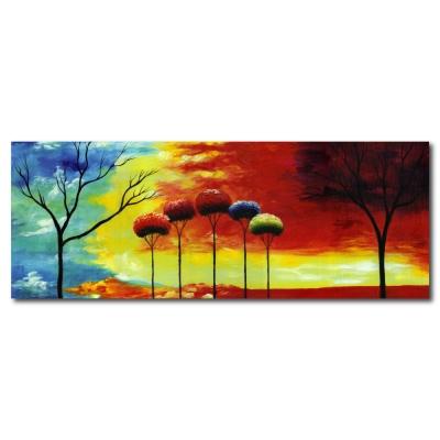 橙品油畫布 - 單聯無框圖畫藝術家飾品掛畫油畫-奇幻想像-30x80cm