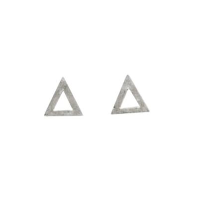 Dogeared 三角形耳環 銀色 迷你簍空版 附原廠盒