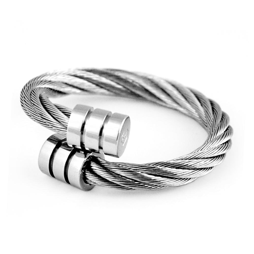 CHARRIOL 夏利豪 經典徹爾斯鋼索銀色戒指