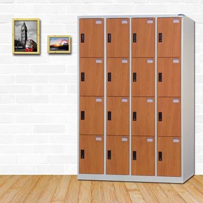 時尚屋 皮爾斯多用途塑鋼製16格置物櫃 寬119x深51x高180cm