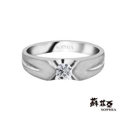 蘇菲亞SOPHIA 鑽石男戒 - 塔尼克斯0.20克拉八心八箭鑽石男戒