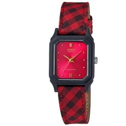 CASIO-復古蘇格蘭格紋時尚風指針腕錶