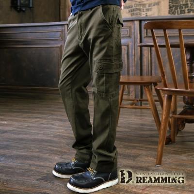 Dreamming 極限動力純色伸縮休閒工作長褲-軍綠