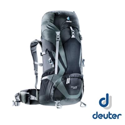【德國 Deuter 】ACT Lite 50+10 輕量透氣登山健行背包_黑/灰