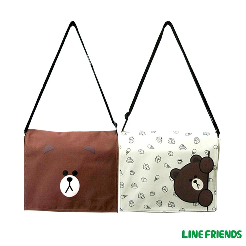 【LINE FRIENDS】MIT 熊大平板側背包(共二款)