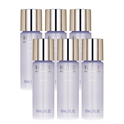 SHISEIDO資生堂-莉薇特麗全效乳液EX-II-30ml-x6-即期良品