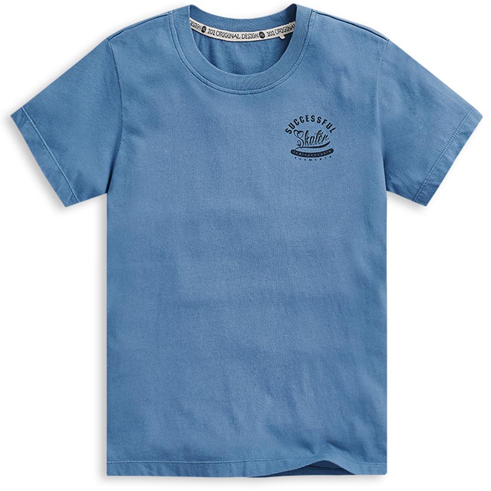 101原創 努力不懈短袖T恤上衣-灰藍