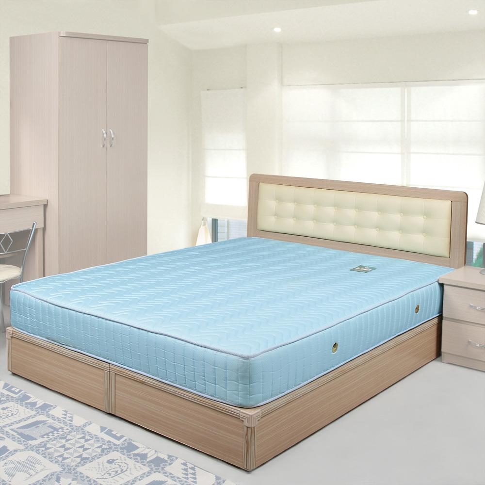 Homelike 艾凡6尺床組+獨立筒床墊-雙人加大(二色任選)