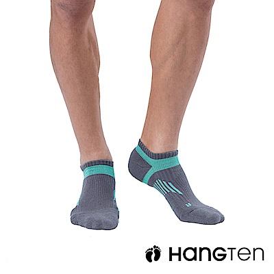 HANG TEN 船型氣墊機能襪3雙入組(男)_藍綠(HT-A23001)