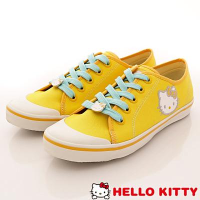 Hello Kitty-凱蒂休閒帆布款-NI10823黃(女段)