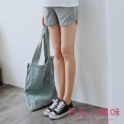 日系小媽咪孕婦裝-孕婦褲~休閒居家運動短褲 M-XXL (共二色)