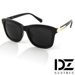 DZ 千頌伊款~角弧線矢 抗UV造型太陽眼鏡墨鏡(墨黑)