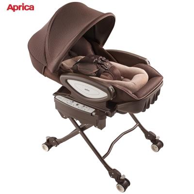 日本 Aprica 智慧型高低可調式電動安撫餐椅搖床(天鵝堡)